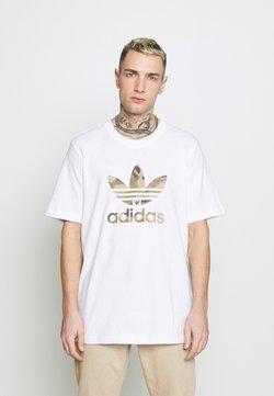 adidas Originals - CAMO INFILL TEE - Printtipaita - white/wild pine