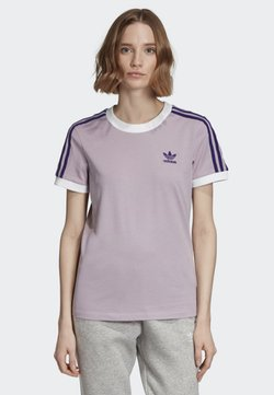 adidas Originals - STRIPES T-SHIRT - T-Shirt print - purple