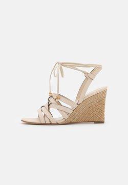Tory Burch - BASKETWEAVE WEDGE - Sandaletter - new cream