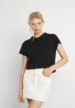 Cotton On - COLLAR TEE - T-shirt con stampa - black