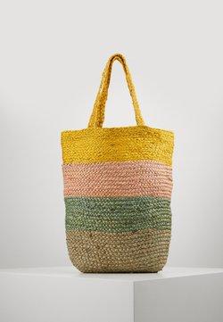 ONLY - ONLMAJA STRIPED BAG - Shoppingväska - misted yellow
