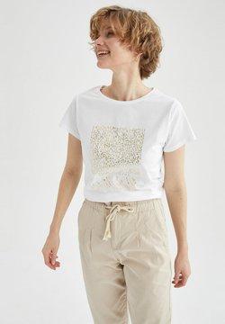 DeFacto - T-shirt con stampa - white