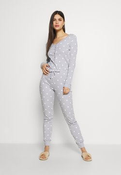 Anna Field - Spot onesie - Pyjama - light grey/white