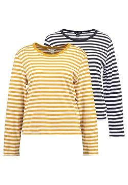 Monki - URSULA - Langarmshirt - black/white /yellow