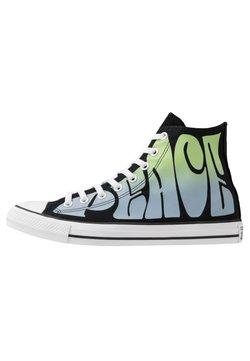 Converse - CHUCK TAYLOR ALL STAR - Sneakersy wysokie - black/lemongrass/white