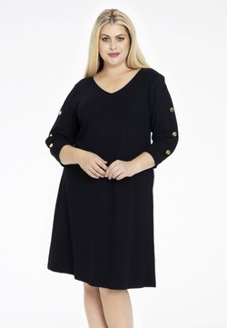 Yoek - WITH LONG SLEEVES - Freizeitkleid - black