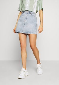 ONLY - ONLROSE LIFE ASHAPE SKIRT - Jeansrock - light blue denim