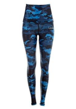 Winshape - HWL102 CAMO-BLUE HIGH WAIST -TIGHTS - Tights - camo blue