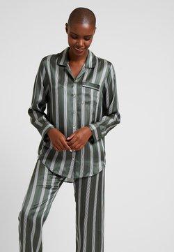 ASCENO - SLEEP - Pyjama top - olive stripe