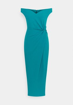 WAL G. - HARPER SIDE KNOT DRESS - Sukienka koktajlowa - teal blue