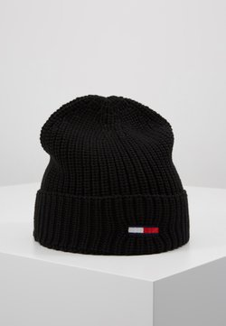 Tommy Jeans - BASIC FLAG BEANIE UNISEX - Muts - black