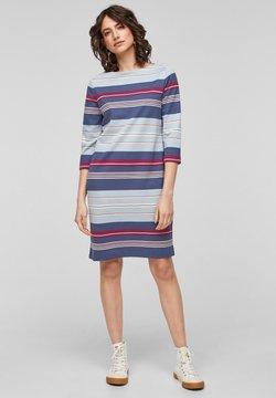 s.Oliver - Jerseykleid - faded blue stripes