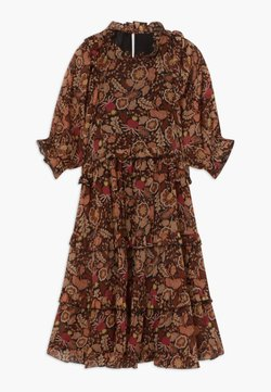 Scotch & Soda - LENGTH DRESS WITH RUFFLES - Freizeitkleid - combo a copper