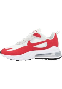 Nike Sportswear - AIR MAX 270 REACT - Sneakers laag - white-pure platinum-black-university red (cw2625-100)