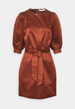 Samsøe Samsøe - CELESTINA SHORT DRESS - Cocktail dress / Party dress - brandy brown