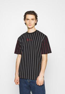 Karl Kani - UNISEX SMALL SIGNATURE PINSTRIPE TEE - T-Shirt print - black