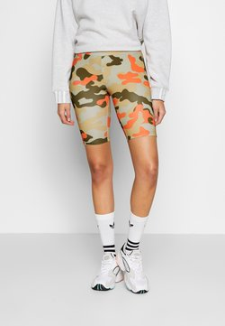 Urban Classics - LADIES HIGHWAIST CAMO TECH CYCLE - Shorts - olive