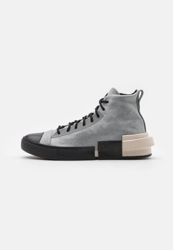 Converse - DISTORT UNISEX - Sneakersy wysokie - ash stone/light orewood brown/lemon