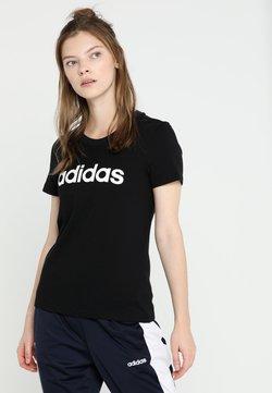 adidas Performance - ESSENTIALS SPORTS SLIM SHORT SLEEVE TEE - T-shirt imprimé - black/white