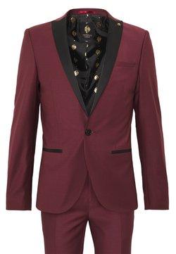 Twisted Tailor - KINGDON SUIT - Costume - bordeaux