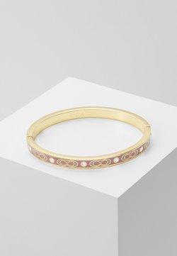 Coach - HINGED BANGLE - Bracelet - gold-coloured/dusty rose