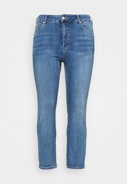 Forever New Curve - HAZEL CURVE HIGH RISE - Slim fit jeans - tulum blue