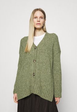 Marc O'Polo - CARDIGAN LONGSLEEVE V-NECK - Strickjacke - dried sage