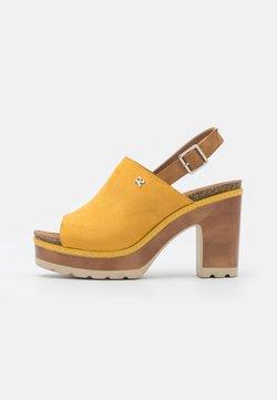 Refresh - Korkeakorkoiset sandaalit - amarillo