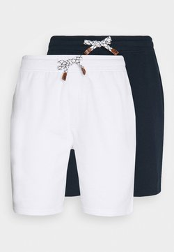 INDICODE JEANS - EXCLUSIVE 2 PACK - Shorts - navy/white