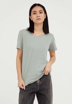 Finn Flare - T-Shirt print - grey green