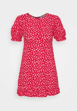 Cotton On - PARIS SHORT SLEEVE DRESS - Freizeitkleid - jolly red