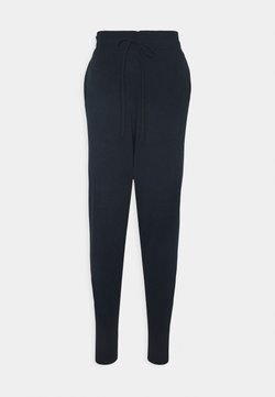 Glamorous Tall - CUFFED JOGGERS WITH FRONT TIE DETAIL - Trainingsbroek - dark navy