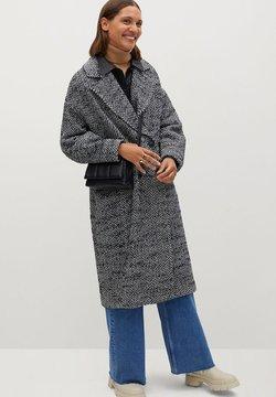 Mango - IN WICKEL-OPTIK - Wollmantel/klassischer Mantel - schwarz