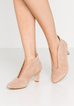 Anna Field - LEATHER ANKLE BOOTS - Botines bajos - beige
