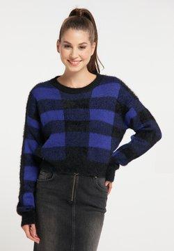 myMo - Strickpullover - schwarz blau