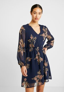 Vero Moda - VMALLIE SHORT SMOCK DRESS - Freizeitkleid - navy blazer