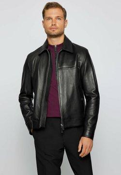 BOSS - NAICAN PS - Leren jas - black