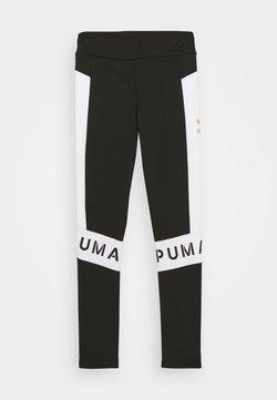 Puma - COLOR BLOCK LEGGINGS - Tights - black/white