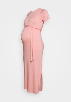 New Look Maternity - BELTED SIDE SPLIT MIDI - Vestido ligero - pale pink