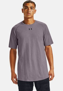 Under Armour - CHARGED COTTON SS - T-Shirt basic - slate purple