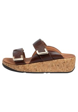 FitFlop - Plateausandalette - chocolate brown