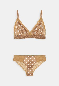 Monki - AGATA BRA SET - Reggiseno a triangolo - brown