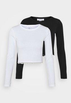 Topshop - 2 PACK - Pitkähihainen paita - black/white