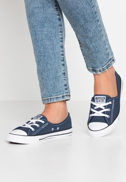 Converse - CHUCK TAYLOR ALL STAR BALLET LACE - Loafers - navy/white/black