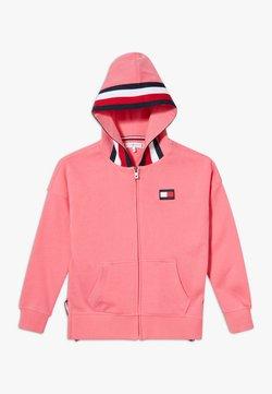 Tommy Hilfiger - GLOBAL STRIPE DETAIL - veste en sweat zippée - pink