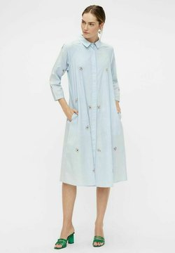 YAS - Vestido camisero - light blue