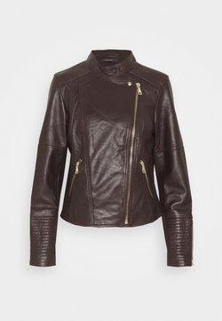 Esprit Collection - Leather jacket - bordeaux red