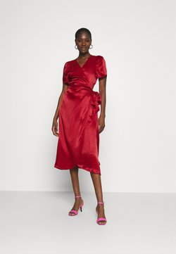 JUST FEMALE - JULISSA WRAP DRESS - Cocktail dress / Party dress - rubin red