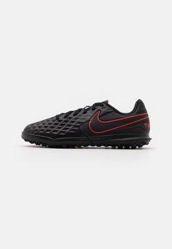 Nike Performance - TIEMPO JR LEGEND 8 CLUB TF UNISEX - Fotbollsskor universaldobbar - black/dark smoke grey/chile red