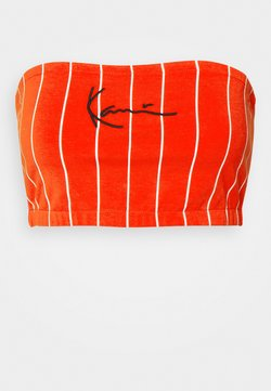 Karl Kani - SMALL SIGNATURE PINSTRIPE BANDEU - Top - red